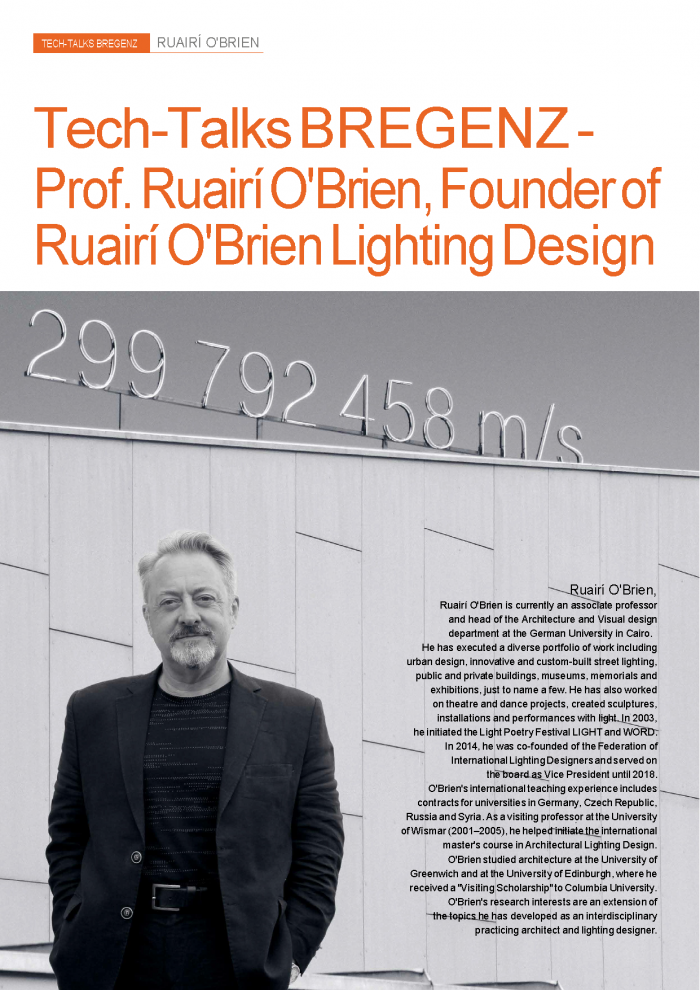 Interview with Architect and Lighting Designer Ruairí O'Brien
